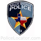 Balch Springs Police Department Patch