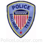 Ballinger Police Department Patch