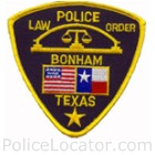 Bonham Police Department Patch