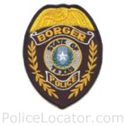 Borger Police Department Patch