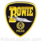 Bowie Police Department Patch