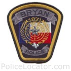 Bryan Police Department Patch