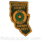 Cherokee County Sheriff's Department Patch