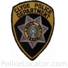 Clyde Police Department Patch