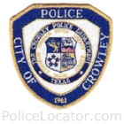 Crowley Police Department Patch