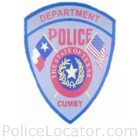 Cumby Police Department Patch