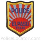 El Paso Police Department Patch