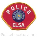 Elsa Police Department Patch