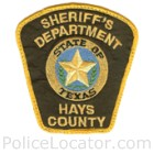 Hays County Sheriff's Office Patch