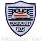Horizon City Police Department Patch