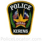 Kerens Police Department Patch