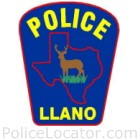 Llano Police Department Patch