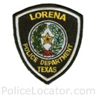Lorena Police Department Patch