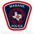 Mabank Police Department Patch