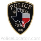 Mathis Police Department Patch