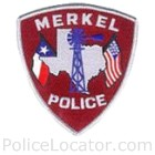 Merkel Police Department Patch