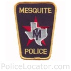 Mesquite Police Department Patch