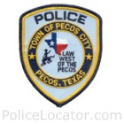 Pecos Police Department Patch