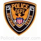 Quitman Police Department Patch