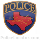Rhome Police Department Patch
