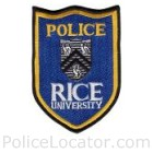 Rice University Police Department Patch