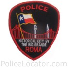 Roma Police Department Patch