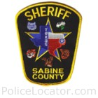 Sabine County Sheriff's Office Patch