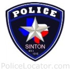 Sinton Police Department Patch