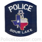 Sour Lake Police Department Patch