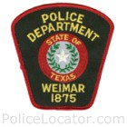 Weimar Police Department Patch