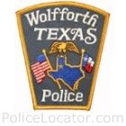 Wolfforth Police Department Patch