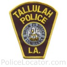 Tallulah Police Department Patch