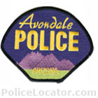Avondale Police Department Patch
