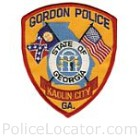Gordon Police Department Patch
