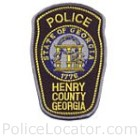 Henry County Police Department Patch