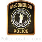 McDonough Police Department Patch