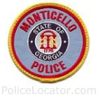 Monticello Police Department Patch