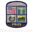 Toccoa Police Department Patch