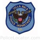 Villa Rica Police Department Patch