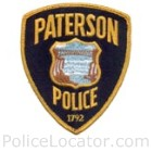 Paterson Police Department Patch