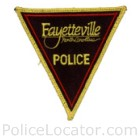 Fayetteville Police Department Patch