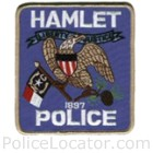 Hamlet Police Department Patch