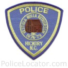 Hickory Police Department Patch
