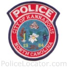 Kannapolis Police Department Patch