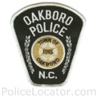 Oakboro Police Department Patch