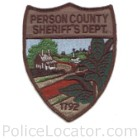 Person County Sheriff's Office Patch