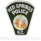 Red Springs Police Department Patch