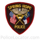 Spring Hope Police Department Patch
