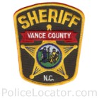 Vance County Sheriff's Office Patch