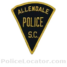 Allendale Police Department Patch